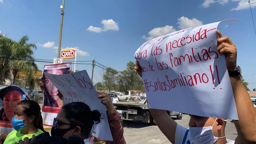 SE MANIFIESTAN FAMILIARES DE DESAPARECIDOS