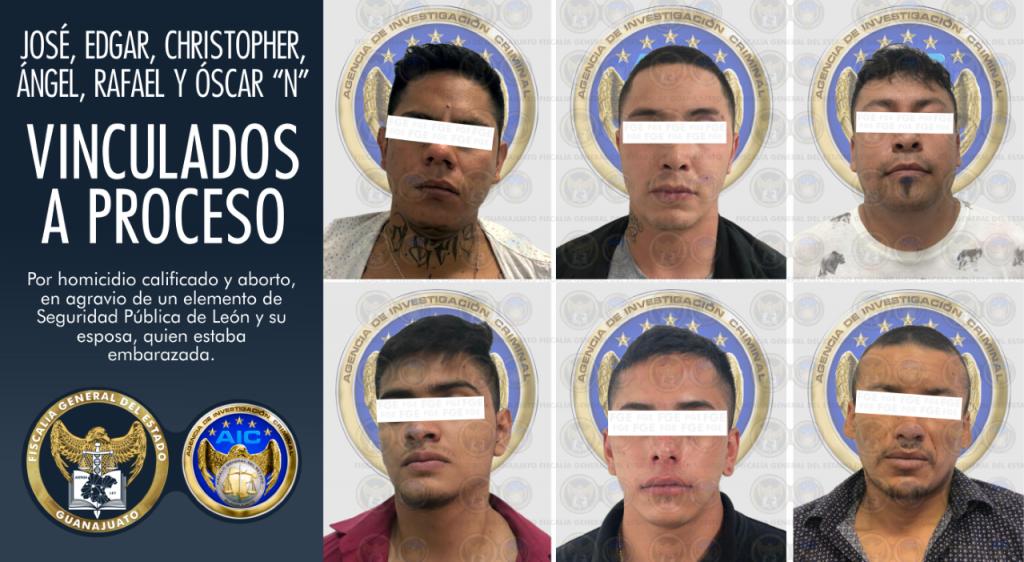 Vinculan a proceso a 6 imputados en el homicidio de un policía y su esposa el pasado viernes en León