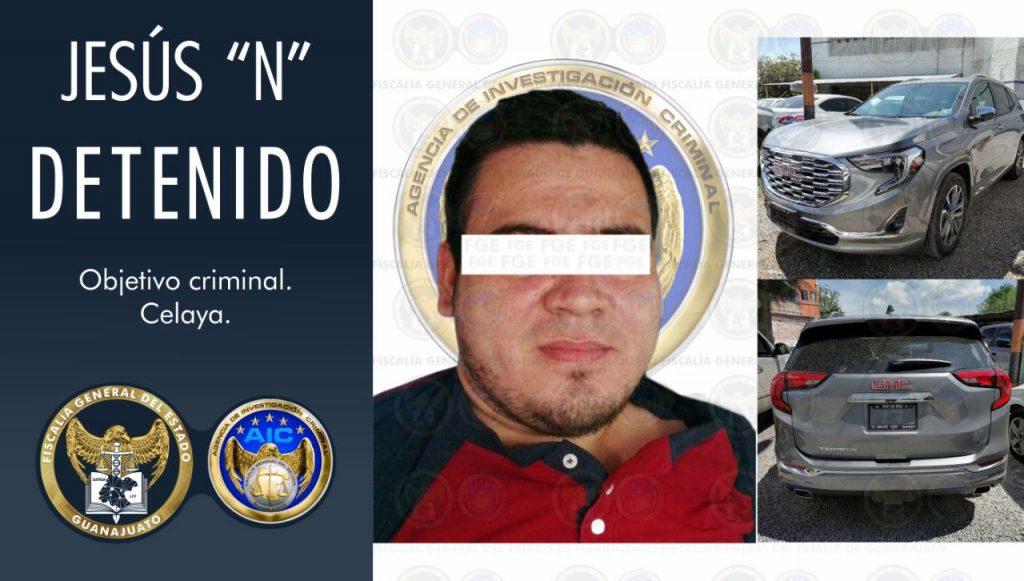 Cae integrante del desarticulado grupo criminal de Santa Rosa de Lima, un violento sujeto a quien se le relaciona con el multihomicidio del verificentro en Celaya.