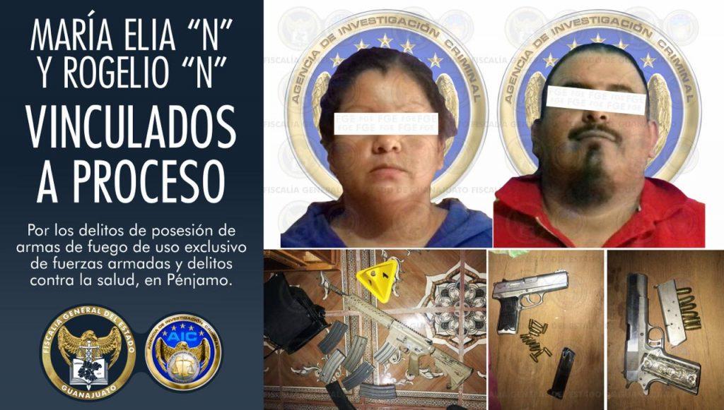Asegura la Fiscalía General del Estado armas y drogas al catear un domicilio  Churipitzeo, en Pénjamo