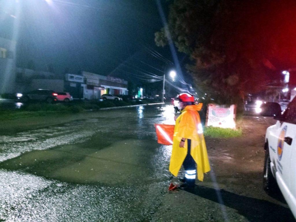 ATIENDE PROTECCIÓN CIVIL REPORTES TRAS INTENSA LLUVIA