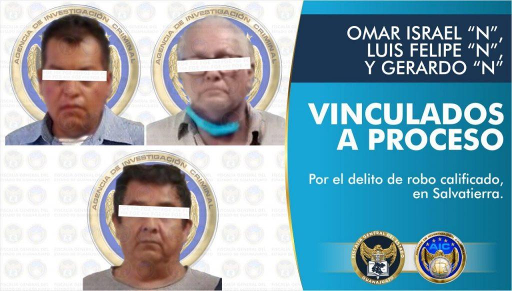 Capturan a tres sujetos que participaron en el robo millonario a un camión de valores en Salvatierra
