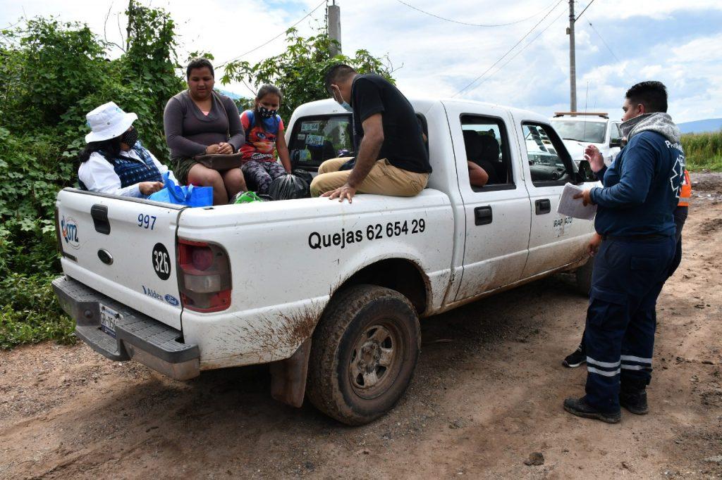MANTIENE PROTECCIÓN CIVIL ATENCIÓN EN COMUNIDADES AFECTADAS POR LLUVIAS