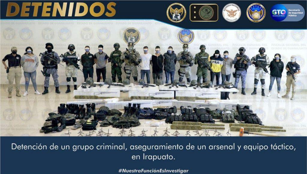 DETIENEN A 13 CRIMINALES EN IRAPUATO