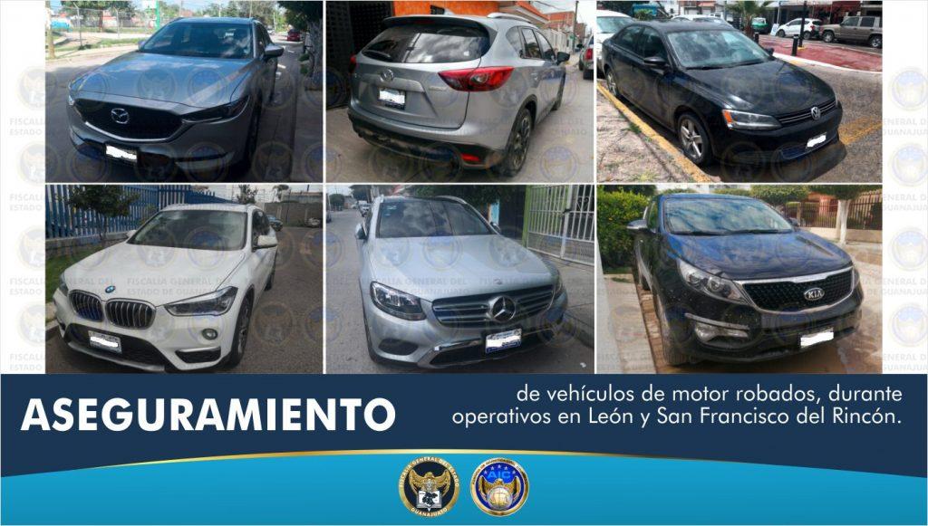 EN OPERATIVOS, RECUPERAN AUTOS ROBADOS EN GUANAJUATO