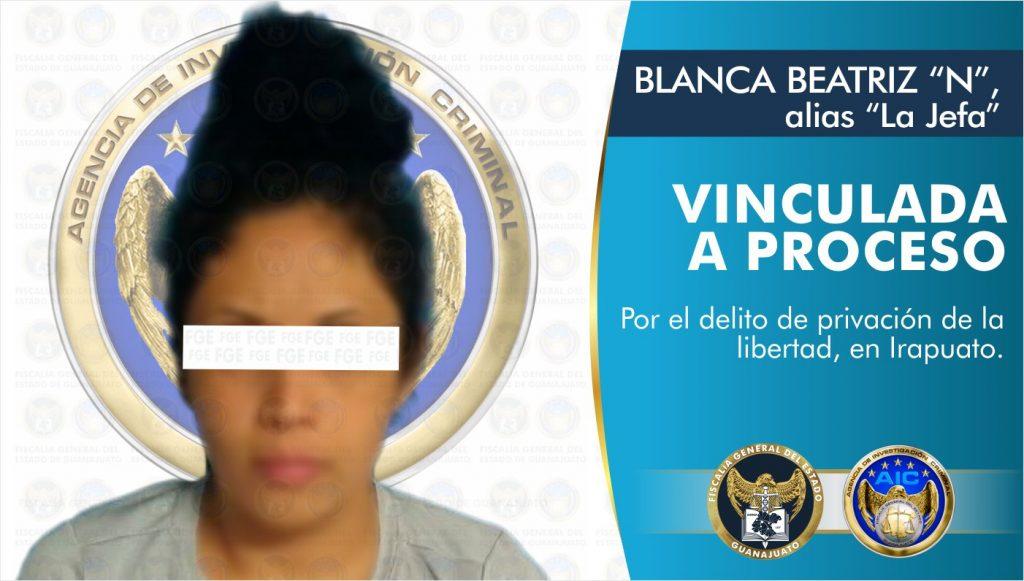 VINCULAN A PROCESO A LA JEFA POR PRIVACIÓN ILEGAL DE LA LIBERTAD EN IRAPUATO