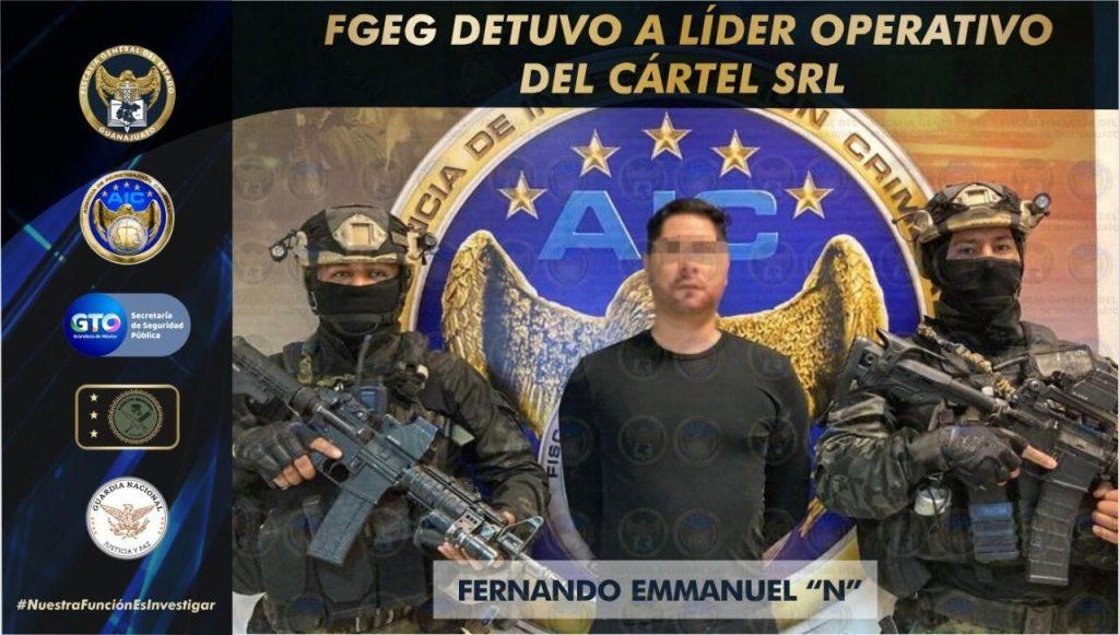 CAE POSIBLE SUCESOR DE «EL MARRO»; ERA EL LÍDER OPERATIVO DEL CSRL